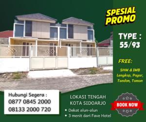 Dijual Rumah Dekat Alun-Alun Sidoarjo