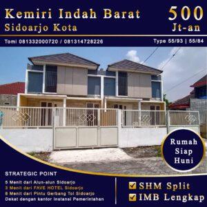 Jual Rumah 1 Lantai di Sidoarjo Kota Siap Huni Dekat Alun-Alun